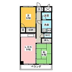 シティコート浜田[3階]の間取り