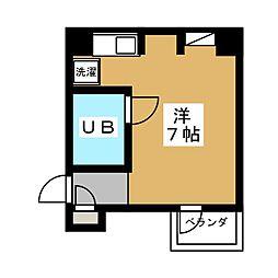 リエス東堀川[6階]の間取り