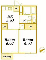 イシイハイツ[2階]の間取り