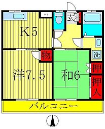 メゾン関場1[1階]の間取り