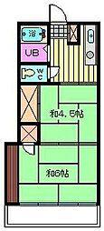 石栄コーポ[201号室]の間取り