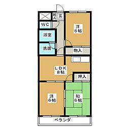 エスパース21[3階]の間取り