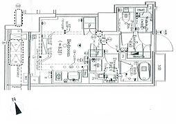 パークリュクス虎ノ門 3階ワンルームの間取り