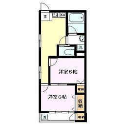 雅マンション第1[305号室]の間取り