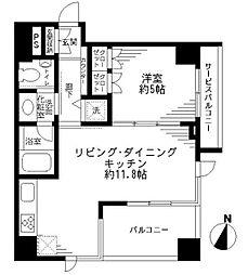 アトラス江戸川アパートメント[1階]の間取り