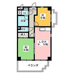 アムール中平[7階]の間取り