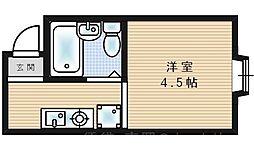 シティプラザ梅香[2階]の間取り