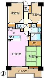 ローヤルシティ鴨居参番館[7階]の間取り