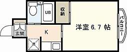 ダイアパレス横川公園[6階]の間取り