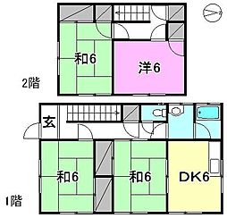 [一戸建] 愛媛県松山市西長戸町 の賃貸【/】の間取り