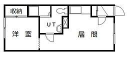 メゾン・ドJUN PARTII[202号室]の間取り