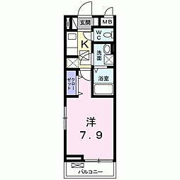 兵庫県尼崎市下坂部1丁目の賃貸アパートの間取り