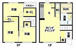 [一戸建] 徳島県徳島市南島田町2丁目 の賃貸【/】の間取り