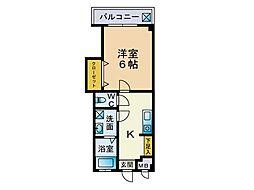 第1栗原マンション[202号室]の間取り