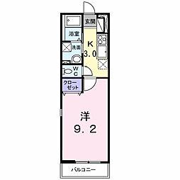 埼玉県さいたま市岩槻区本町1丁目の賃貸アパートの間取り