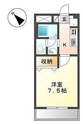 ピアリープレイス[1階]の間取り