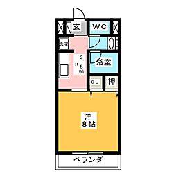 Sun Flower正木V[1階]の間取り