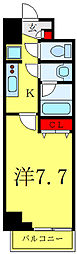 JR埼京線 板橋駅 徒歩5分の賃貸マンション 8階1Kの間取り