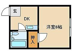 マンションKLM[4階]の間取り