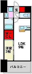 LIFEFIELD二日市駅前 4階1LDKの間取り
