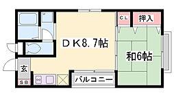 本間ハウス[3階]の間取り