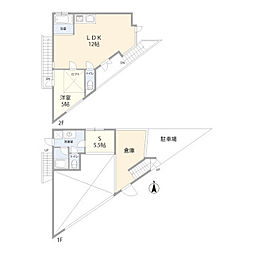 [一戸建] 東京都港区西麻布2丁目 の賃貸【/】の間取り