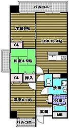 ラ・メゾンMSIII 5階3LDKの間取り