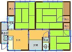 鳥取県米子市上福原5丁目 [一戸建] の間取り