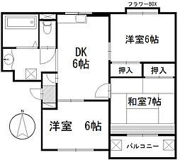 クレセントハウス[3階]の間取り
