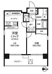 東京都墨田区本所2丁目の賃貸マンションの間取り