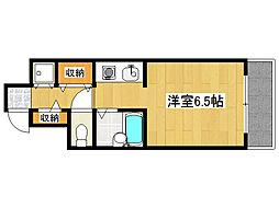 阪急神戸本線 王子公園駅 徒歩9分の賃貸マンション 4階ワンルームの間取り