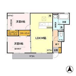 Maison de HAN'YUU[1階]の間取り