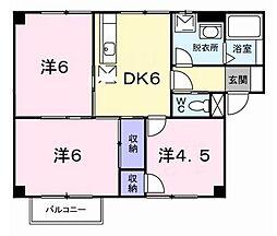 フォンテーヌシャトレ1[2階]の間取り