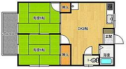 サンシャイン南ハイツ 1[2階]の間取り