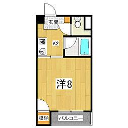 エルデ桃山[3階]の間取り