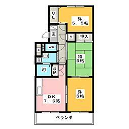 ファミール97[3階]の間取り