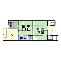 [テラスハウス] 大阪府東大阪市中鴻池町2丁目 の賃貸【/】の間取り