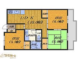 大阪府堺市堺区香ヶ丘町2丁の賃貸マンションの間取り