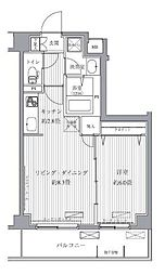 サニーリヴ北新横浜[5階]の間取り