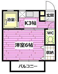 広島県安芸郡海田町日の出町の賃貸アパートの間取り