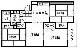 ライズィングマンション B棟[205号室]の間取り