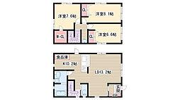[一戸建] 愛知県名古屋市名東区本郷1丁目 の賃貸【/】の間取り