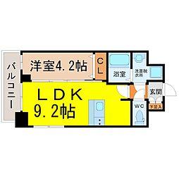 ファステート名古屋ラプソティ 5階1LDKの間取り