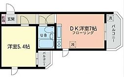 コンドレア綱島西[401号室号室]の間取り