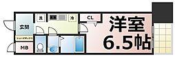Osaka Metro中央線 緑橋駅 徒歩5分の賃貸マンション 14階1Kの間取り
