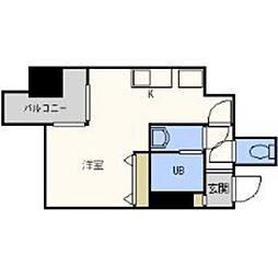 福岡県福岡市中央区六本松3の賃貸マンションの間取り