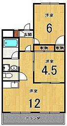 シャルム桂[5階]の間取り