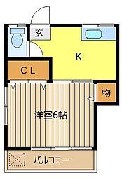 武蔵野コーポ[2階]の間取り