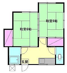 福井アパート[5号室]の間取り