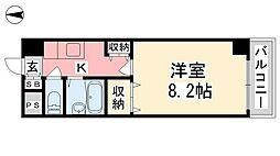 ジョイフル第5中村[407号室]の間取り